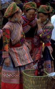 Hmong (hill tribe) women in Bac Ha