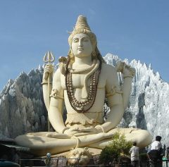 of Lord Shiva in Bangalore, India, performing yogic meditation in the Padmasana posture. (Wikipedia)